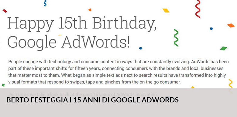 Hoy Google AdWords cumple 15 años