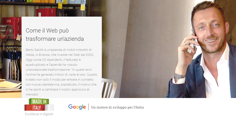 BertO en el proyecto Made in Italy Eccellenze en digital de Google