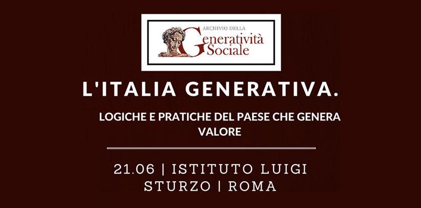 Filippo Berto participa en el evento  organizado por el Archivio della Generatività Sociale