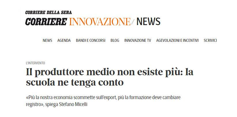 BertO en el Corriere Innovazione