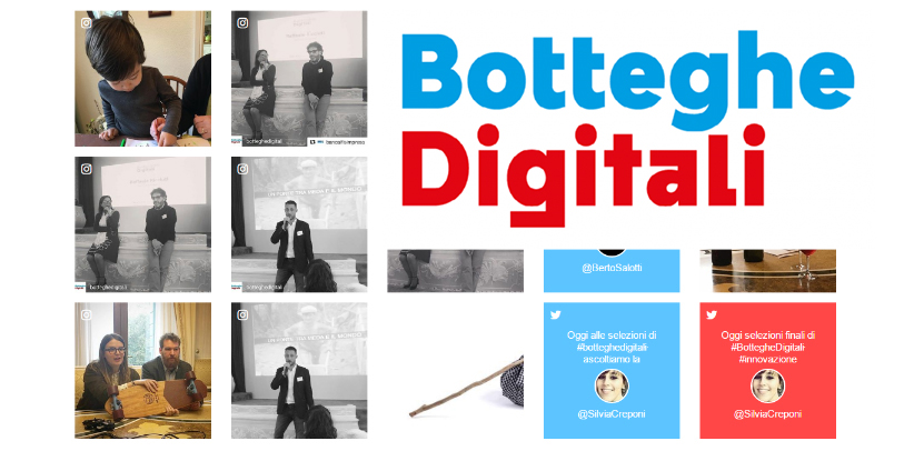 Filippo Berto se reúne con los finalistas de Botteghe Digitali