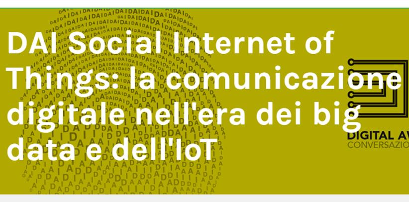 Filippo Berto participa en la conferencia Big data y Iot en Milán