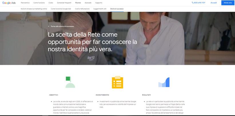 BertO caso estudio italiano según Google