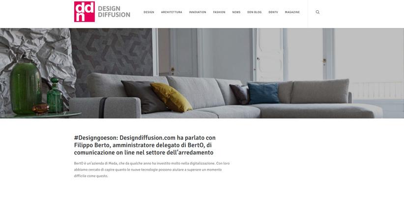 Diseño y nuevas tecnologías: entrevista de Filippo Berto en DDN