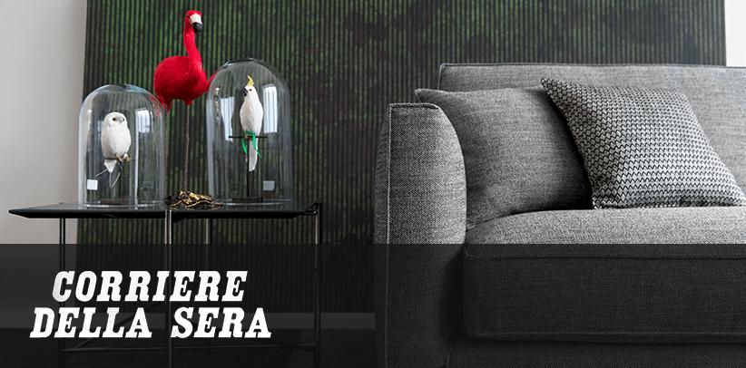 Tejidos perfectos para sofás perfectos: el Dream Design de BertO en el diario italiano Corriere della Sera