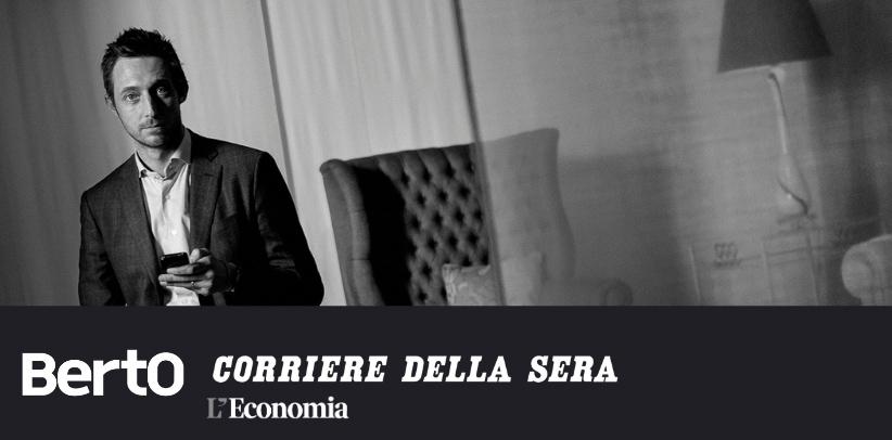 entrevista a filippo berto en el suplemento de economía del corriere della sera
