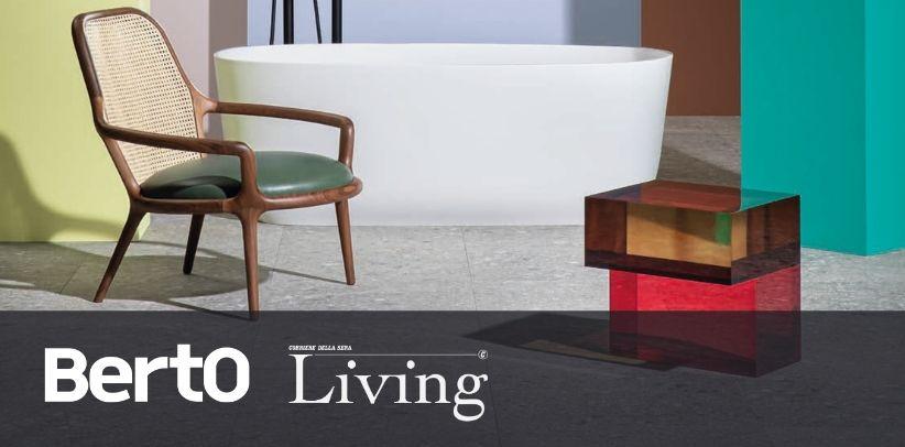 sillón de diseño patti de berto en living corriere della sera