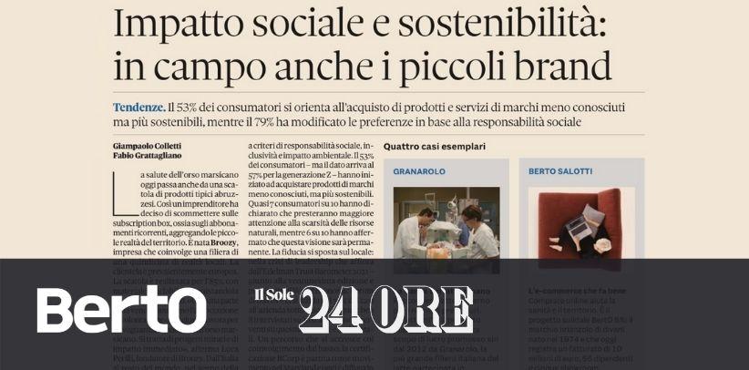 BertO en Il Sole 24 Ore: ejemplo de responsabilidad social
