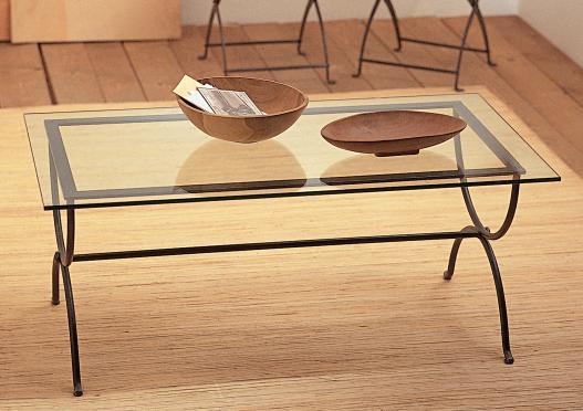 Mesa de centro de hierro forjado mesa de hierro forjado - Cuanto cuesta cristal para mesa ...
