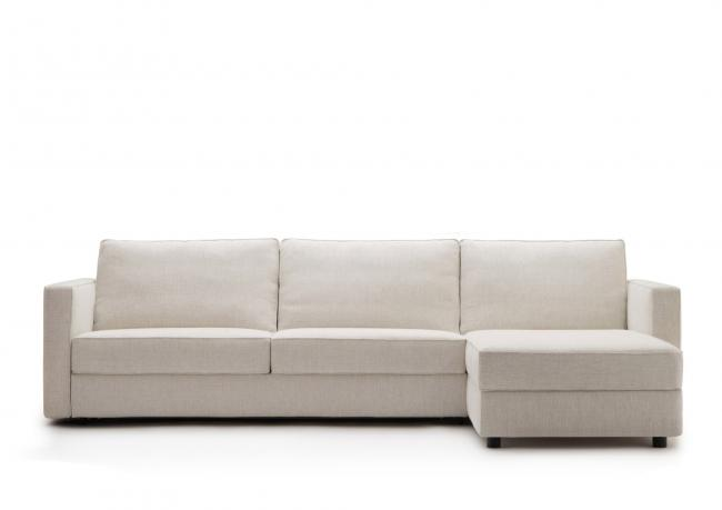 Sof cama con chaise longue a medida berto salotti for Medidas sofa chaise longue